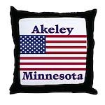 Akeley US Flag Throw Pillow