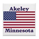 Akeley US Flag Tile Coaster