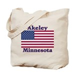 Akeley US Flag Tote Bag