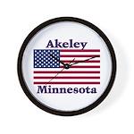 Akeley US Flag Wall Clock