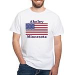 Akeley US Flag White T-Shirt
