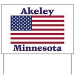 Akeley US Flag Yard Sign