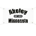 Akeley Established 1916 Banner
