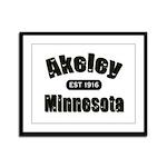 Akeley Established 1916 Framed Panel Print