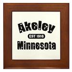 Akeley Established 1916 Framed Tile