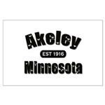 Akeley Established 1916 Large Poster