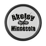 Akeley Established 1916 Large Wall Clock