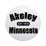 Akeley Established 1916 Ornament (Round)