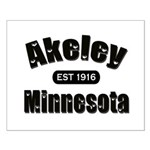 Akeley Established 1916 Small Poster