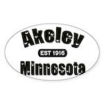 Akeley Established 1916 Oval Sticker (10 pk)
