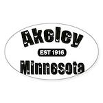 Akeley Established 1916 Oval Sticker (50 pk)