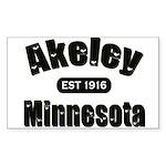 Akeley Established 1916 Rectangle Sticker 10 pk)