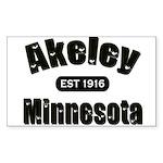 Akeley Established 1916 Rectangle Sticker 50 pk)