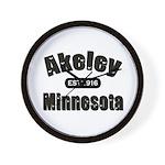 Akeley Established 1916 Wall Clock