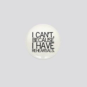 """I can't. Because..."" Mini Button"