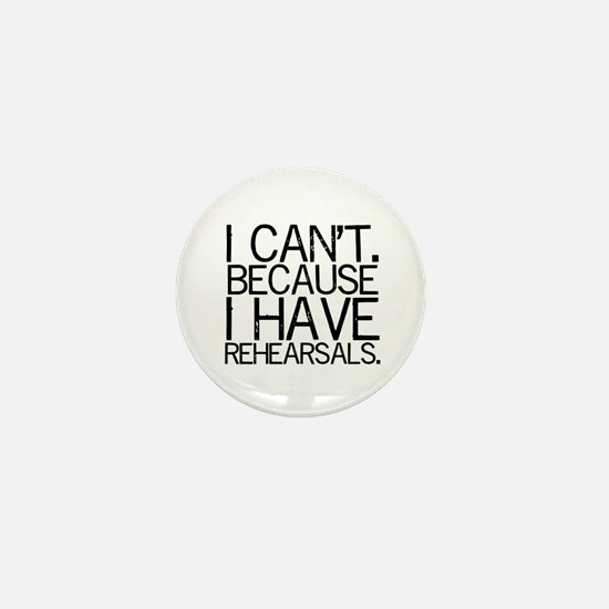 """""""I can't. Because..."""" Mini Button"""