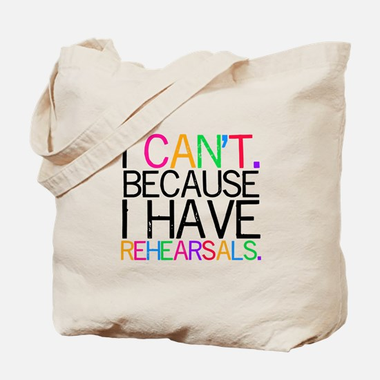 """""""I can't. Because..."""" (multi) Tote Bag"""