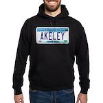 Akeley License Plate Hoodie (dark)