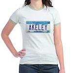 Akeley License Plate Jr. Ringer T-Shirt