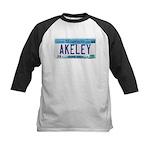 Akeley License Plate Kids Baseball Jersey