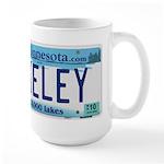 Akeley License Plate Large Mug