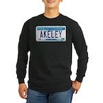 Akeley License Plate Long Sleeve Dark T-Shirt