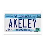 Akeley License Plate Mini Poster Print