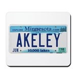 Akeley License Plate Mousepad