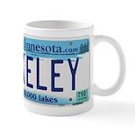 Akeley License Plate Mug