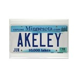 Akeley License Plate Rectangle Magnet (100 pack)