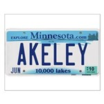 Akeley License Plate Small Poster