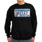 Akeley License Plate Sweatshirt (dark)