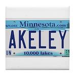Akeley License Plate Tile Coaster