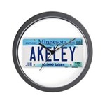 Akeley License Plate Wall Clock