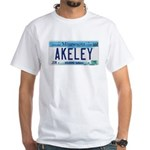 Akeley License Plate White T-Shirt