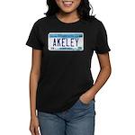 Akeley License Plate Women's Dark T-Shirt