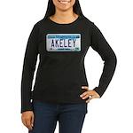 Akeley License Plate Women's Long Sleeve Dark T-Sh
