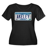 Akeley License Plate Women's Plus Size Scoop Neck