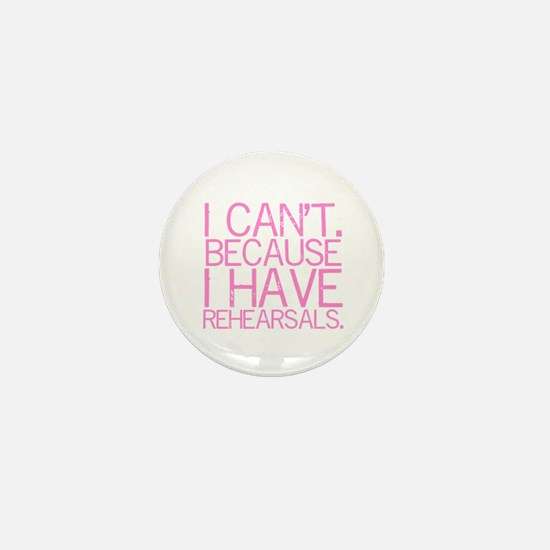 """""""I can't. Because..."""" (pink) Mini Button"""