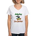 Akeley 'You Betcha' Loon Women's V-Neck T-Shirt