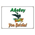 Akeley 'You Betcha' Loon Banner