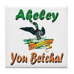 Akeley 'You Betcha' Loon Tile Coaster