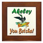 Akeley 'You Betcha' Loon Framed Tile