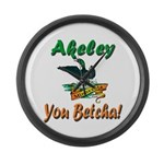 Akeley 'You Betcha' Loon Large Wall Clock