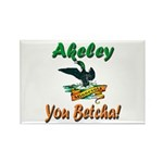 Akeley 'You Betcha' Loon Rectangle Magnet (10 pack