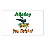 Akeley 'You Betcha' Loon Rectangle Sticker 10 pk)