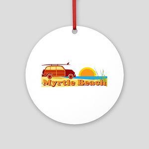 Myrtle Beach SC - Surfing Design Ornament (Round)