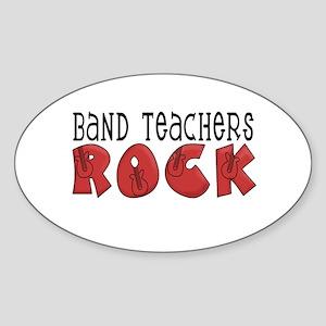 Band Teachers Rock Oval Sticker