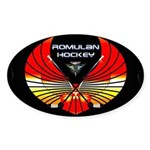 Romulan Hockey Novelties Oval Sticker (50 Pk)