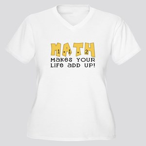 Math Women's Plus Size V-Neck T-Shirt